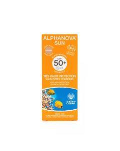 Alphanova Sun Crème Solaire Bio SPF50+ Teinte Medium Tube 50g