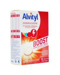 Alvityl Boost Energie Physique et Mentale 20 Comprimés Effervescents