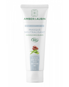 Amber & Aubin Cheveux Gris & Blancs Masque Neutralisant Argent Bio Tube 200ml