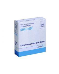 Alvita Compresse Stérile de Gaze 7,5cm X 7,5 cm 50 Sachets