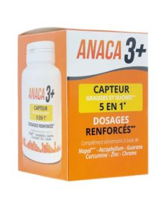 Anaca3+ Capteur Graisses et Sucre 5 en 1 - 120 Gélules