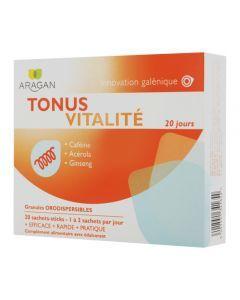 Aragan Tonus Vitalité 20 Sachets Sticks