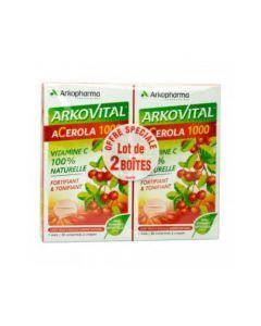 Arkopharma Arkovital Acérola 1000 Lot de 2x30 Comprimés