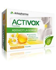 Arkopharma Activox Miel Citron Sans Sucre 24 pastilles