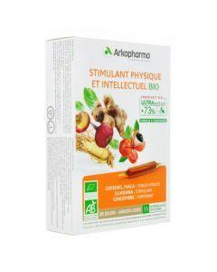 Arkopharma Arkofluides Stimulant Physique et Intellectuel Bio 20 ampoules