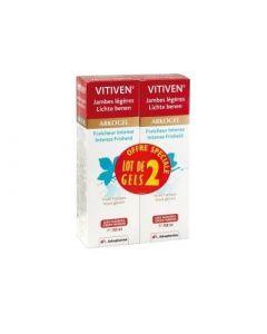 Arkopharma Vitiven Fraicheur Intense Gel Pour Jambes Fatiguées 150ml X 2