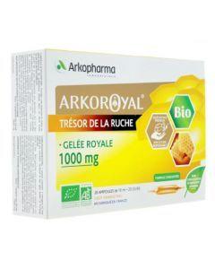 Arkopharma Gelée Royale 1000mg Bio Miel 20 ampoules de 10ml