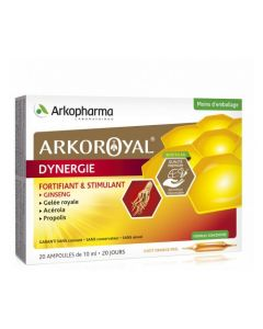 Arkopharma Arkoroyal Dynergie Ginseng 20 Ampoules