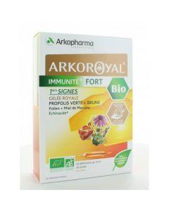 Arkopharma Arkoroyal Immunité Fort Bio 20 ampoules de 10 ml