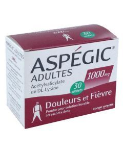 Aspégic adultes 1000 mg
