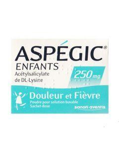 Aspégic enfants poudre orale 250 mg