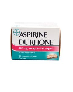 Aspirine du rhône comprimé à croquer 500 mg