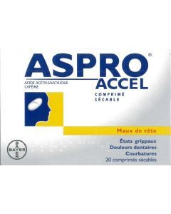 ASPRO CAFEINE 500mg/50 mg, comprimé sécable