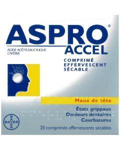 ASPRO CAFEINE 500mg/50 mg,  comprimé effervescent sécable
