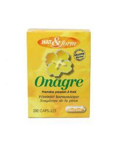 Nat&Form Huile Onagre et Vitamine E 200 Capsules