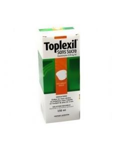 Toplexil 0,33 mg/ml sans sucre solution buvable édulcorée à l'acésulfame potassique 150ml
