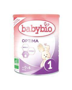 Babybio Optima 1 Lait pour Nourrissons Bio au Bifidus de 0 à 6 Mois 400g