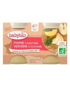 Babybio Pots Pomme d'Aquitaine & Verveine Biologique Dès 4 Mois 2 x 130g