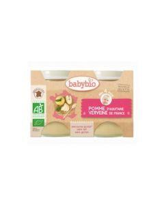 Babybio Petits Pots Pomme d'Aquitaine & Verveine Biologique dès 4 Mois 2x130g