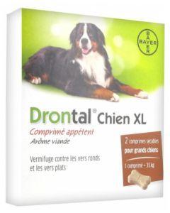 Drontal XL Chien Vermifuge 2 Comprimés