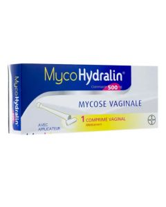 MycoHydralin 500mg 1 Comprimé Vaginal avec Applicateur