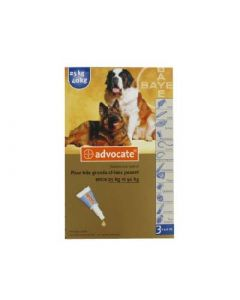Bayer Advocate Chiens de 25 à 40 Kg Boîte de 3 Pipettes