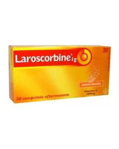 Laroscorbine 1g sans sucre 30 comprimés effervescents
