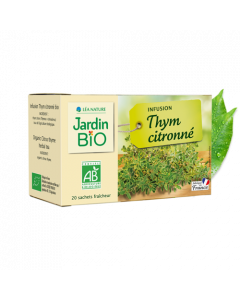 Jardin Bio Infusion Thym Citronné 20 Sachets de 1,5g