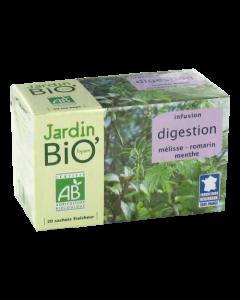 Jardin bio infusion digestion mélisse romarin menthe 20 sachets