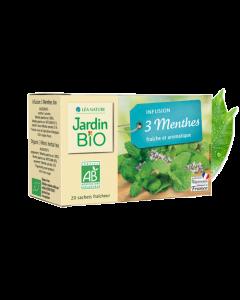 Jardin Bio Infusion 3 Menthes 20 Sachets de 1 5g