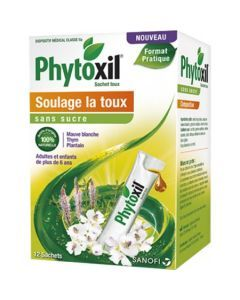 Phytoxil Sirop Sans Sucre Adulte et Enfant plus de 6 Ans 12 Sticks de 10ml