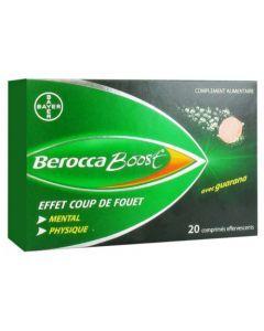 Bayer Berocca Boost Effet Coup de Fouet 20 Comprimés Effervescents
