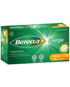 Berocca Energie Gout Orange 30 comprimés effervescents