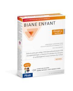 Pileje Biane Enfant Oméga 3, Vit D et E 27 pastilles gélifiées