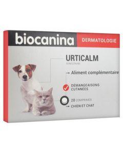 Biocanina Dermatologie Urticalm Démangeaisons Cutanées Chien et Chat 20 Comprimés
