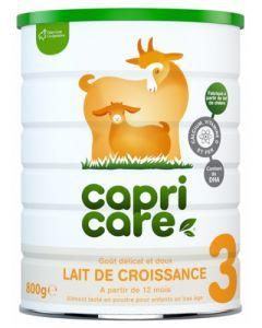 CapriCare Lait de Croissance 3 Goût Délicat et Doux 800g