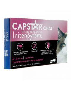CAPSTAR Chat 11,4mg de Nitenpyram 6 Comprimés