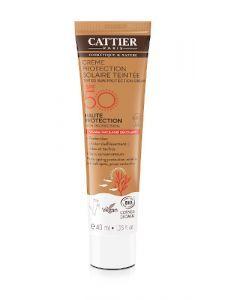 Cattier Crème Protection Solaire Bio Teintée SPF50