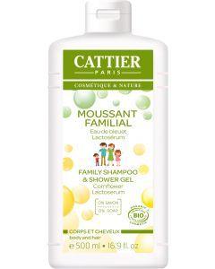Cattier Moussant Familial Corps & Cheveux 500ml