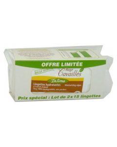 Rogé Cavaillès Intime Lingettes Spécial Sécheresse lot de 2x15 lingettes