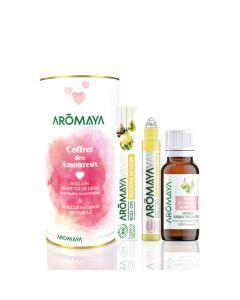 Aromaya Coffret des Amoureux Roll-on Bio 10ml + Huile de Massage 30ml