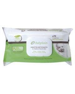Cooper Babysoin Lingettes Nettoyantes Biodégradables Pack de 70