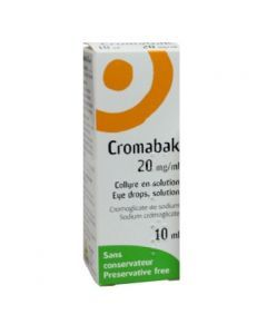 Cromabak collyre 20 mg