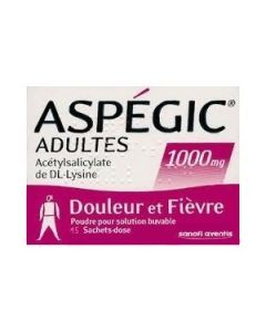 Aspegic adultes 1000 mg