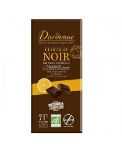 Dardenne Chocolat Noir Aux Huiles Essentielles  d'Orange Douce 70g
