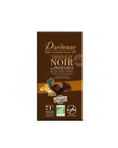 Dardenne Tablette Chocolat Noir Fruits Secs 180g