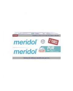 Meridol Pur Dentifrice Lot de 2 Tubes 75ml