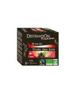 Thé Noir Fruits des Bois 20 Infusettes Bio