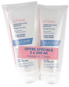 Ducray Ictyane Crème Emoliante Nutritive 2x200ml