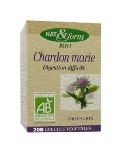 Nat&Form Chardon Marie Bio 200 Gélules Eco Responsable